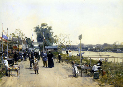 Fine Art Print of A Village fete by Luigi Loir
