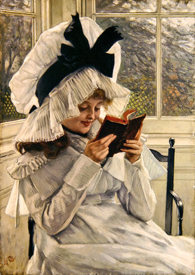 Fine Art Print of Reading a Book, 1872-73 by James Jacques Joseph Tissot