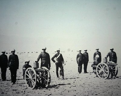 Fine Art Print of Gatling Guns of the Royal Artillery by English Photographer