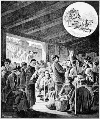 Chinese Immigrants at San Francisco Custom House, from Harper's Weekly, 3rd February, 1877 Poster Art Print by American School