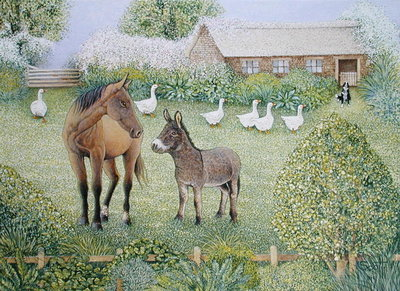 Companions (oil on canvas) by Pat Scott - print