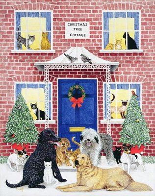 Christmas Warmth Poster Art Print by Pat Scott