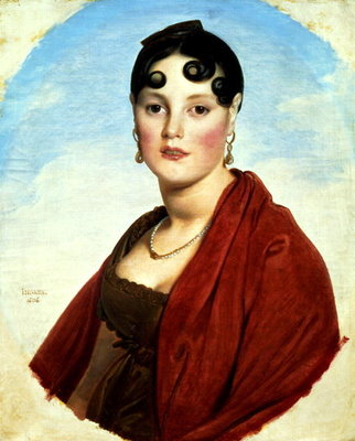 Portrait of Madame Aymon, or La Belle Zelie, 1806 Poster Art Print by Jean Auguste Dominique Ingres