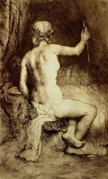 Fine Art Print of The Woman with the Arrow, 1661 by Rembrandt Harmensz. van Rijn