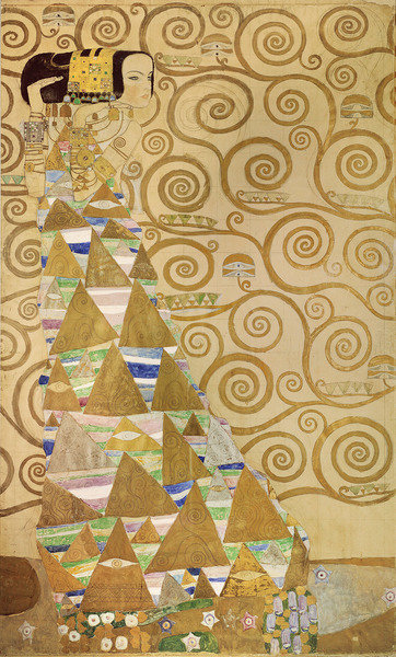 Fine Art Print of Study for Expectation, c.1905-09 by Gustav Klimt