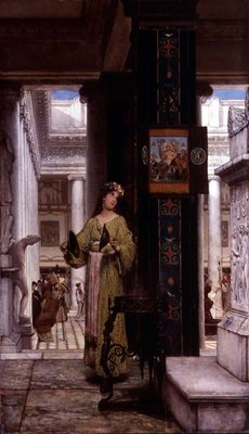 In the Temple, 1871 Poster Art Print by Sir Lawrence Alma-Tadema