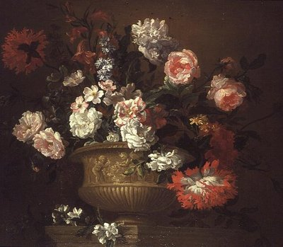 Still Life of Flowers in an Urn Poster Art Print by Pieter Casteels