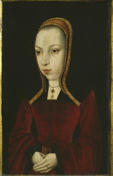 Portrait of Margaret of Austria, c.1495 Poster Art Print by Master of the Legend of the Magdalen