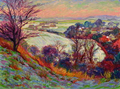 The Downs in Winter by Robert Tyndall - print