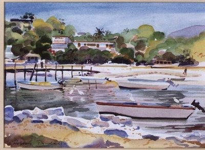 The Creek, Zhatanejo, Mexico by Robert Tyndall - print