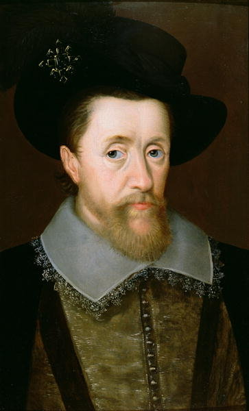 Fine Art Print of Portrait of James VI of Scotland and I of England by John de Critz