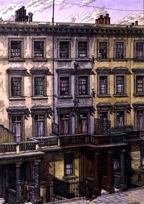 London Terrace Poster Art Print by Charles Ginner
