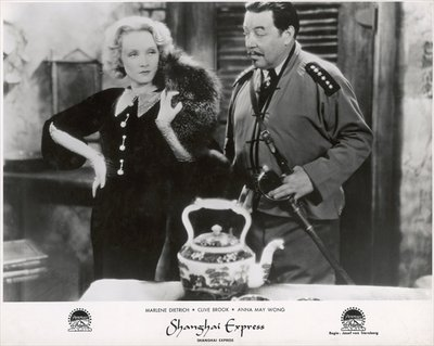 "Fine Art Print of Still from the film ""Shanghai Express"" with Marlene Dietrich and Warner Oland, 1932 by German Photographer"