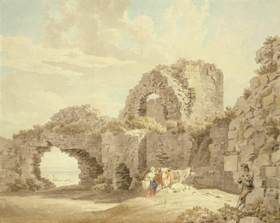Ruins of Pevensey Castle Poster Art Print by Michael Rooker