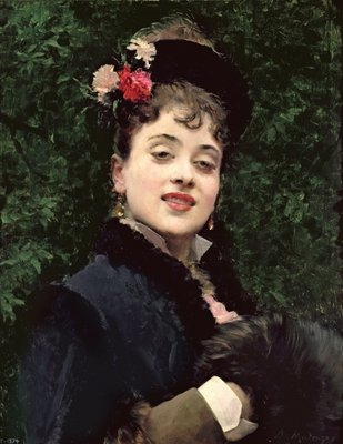 Aline Masson, the Artist's Model Poster Art Print by Raimundo de Madrazo y Garetta