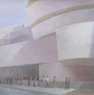 Guggenheim Museum, New York, 2004 (acrylic on canvas) by Lincoln Seligman - print