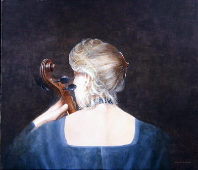 Fine Art Print of Cello Professor, 2005 by Lincoln Seligman