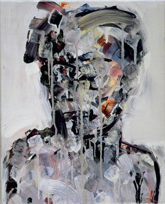 Portrait of David Bowie, 1994 (oil on canvas) by Stephen Finer - print