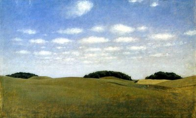 Fine Art Print of Landscape from Lejre, 1905 by Vilhelm Hammershoi