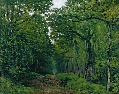 Fine Art Print of The Avenue of Chestnut Trees at La Celle-Saint-Cloud, 1867 by Alfred Sisley