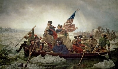 Fine Art Print of Washington Crossing the Delaware River, 25th December 1776, 1851 by Emanuel Gottlieb Leutze