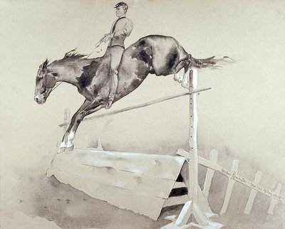 Jump Poster Art Print by Frederic Remington