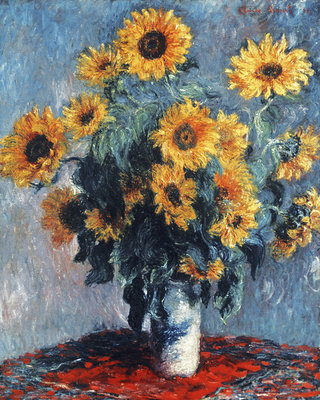 Fine Art Print of Still life with Sunflowers, 1880 by Claude Monet