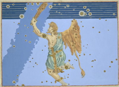 Fine Art Print of Constellation of Orion, from 'Uranometria' by Johann Bayer, engraved by Alexander Mair by Johann Bayer
