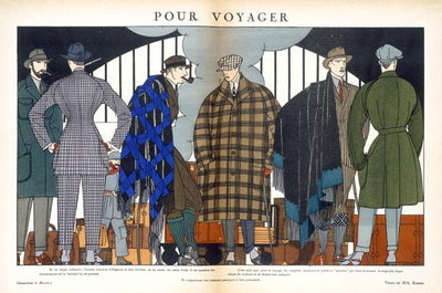 Travelling Fashion, c.1921 Poster Art Print by Marjac