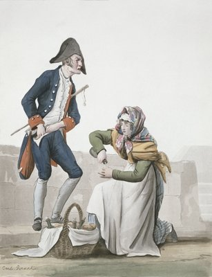 Fine Art Print of The brandy seller by Antoine Charles Horace Vernet