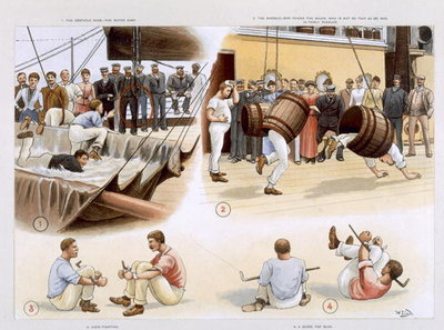 Fine Art Print of Sports, from 'P &amp;amp; O Pencillings' c. 1891 by W. Lloyd