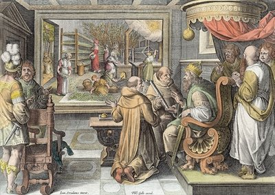 The Beginning of the Silk Industry in Europe, plate 9 from 'Nova Reperta' Poster Art Print by Jan van der Straet