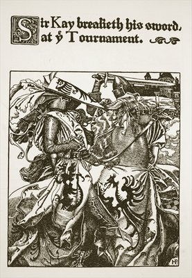 Fine Art Print of Sir Kay breaketh his sword at ye Tournament, illustration from 'The Story of King Arthur and his Knights', 1903 by Howard Pyle