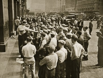 Fine Art Print of Longshoremen being picked out by a boss by American Photographer