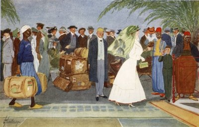 Globe Trotters, from 'The Light Side of Egypt', 1908 Poster Art Print by Lance Thackeray