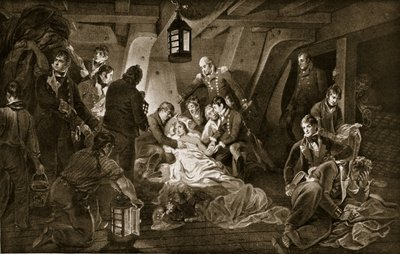 Fine Art Print of The Death of Nelson, 1805, illustration from 'Hutchinson's Story of the British Nation', c.1923 by Anthony Devis