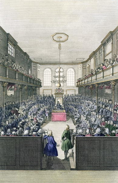 A View of the House of Commons, engraved by B. Cole Poster Art Print by English School