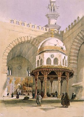 The Mosque of Sultan Hassan, Cairo, pub. 1846 Poster Art Print by A. Margaretta Burr