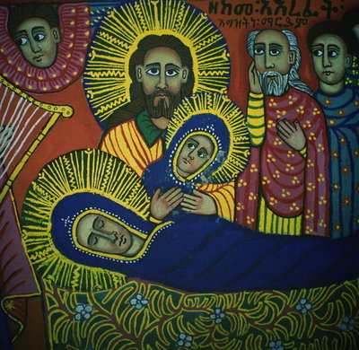 Fine Art Print of The Dormition of the Virgin by Ethiopian School