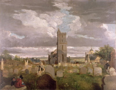 The Old Churchyard, Stirling, 1835 Poster Art Print by Robert Mitchell