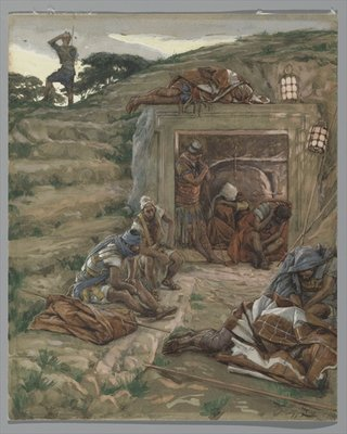 The Watch Over the Tomb, illustration from 'The Life of Our Lord Jesus Christ', 1886-94 Poster Art Print by James Jacques Joseph Tissot