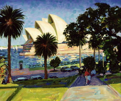 Fine Art Print of Sydney Opera House, PM, 1990 by Ted Blackall