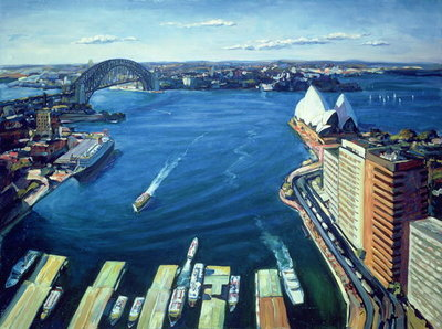 Fine Art Print of Sydney Harbour, PM, 1995 by Ted Blackall