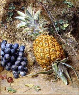 Grapes and a Pineapple Poster Art Print by William Henry Hunt