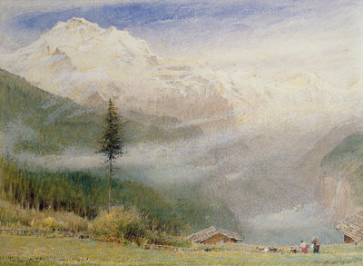 Fine Art Print of Jungfrau, 1913 by Albert Goodwin