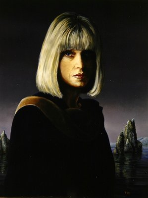 The Artist's Wife, 1993 (oil over tempera on canvas) by Trevor Neal - print