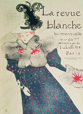 Fine Art Print of Poster advertising 'La Revue Blanche', 1890s by Henri de Toulouse-Lautrec