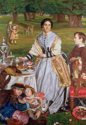 Lady Fairbairn with her Children, 1864 Poster Art Print by William Holman Hunt