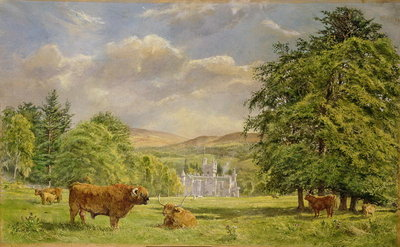 Bulls at Balmoral, 1988 Poster Art Print by Tim Scott Bolton