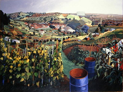 Fine Art Print of Allotments, St Wertburghs, Bristol by Anna Teasdale